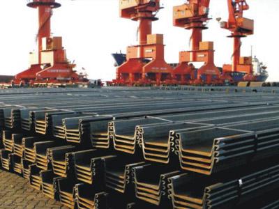 钢板桩出口韩国 12米 400x150